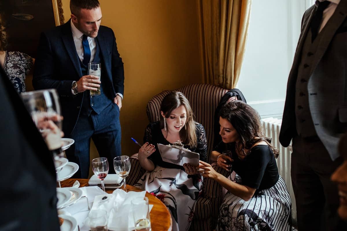 wedding table quiz wedding game ideas