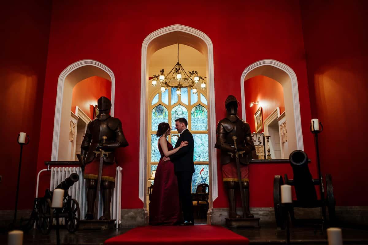 burgundy wedding dress irish castle wedding kinnity castle