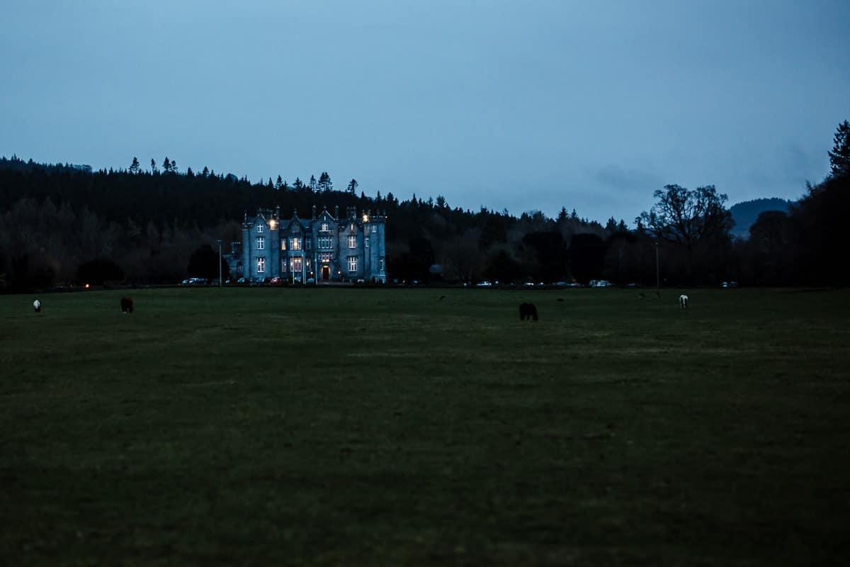 kinnity castle birr in evening light