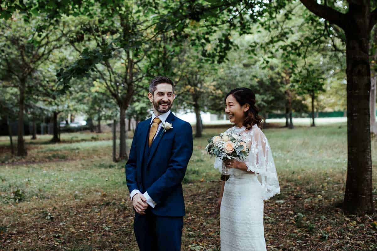 first look in phoenix park dublin documentary wedding photographer