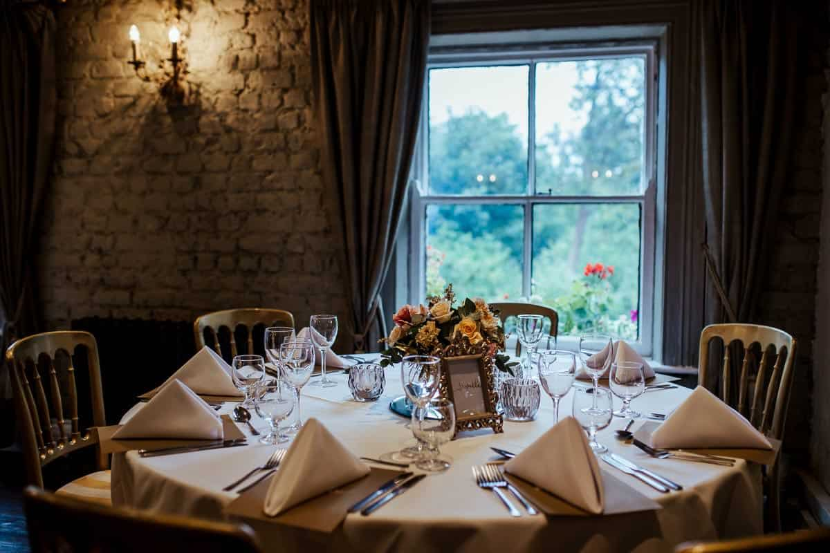 phoenix room wedding table wrights anglers rest wedding dublin