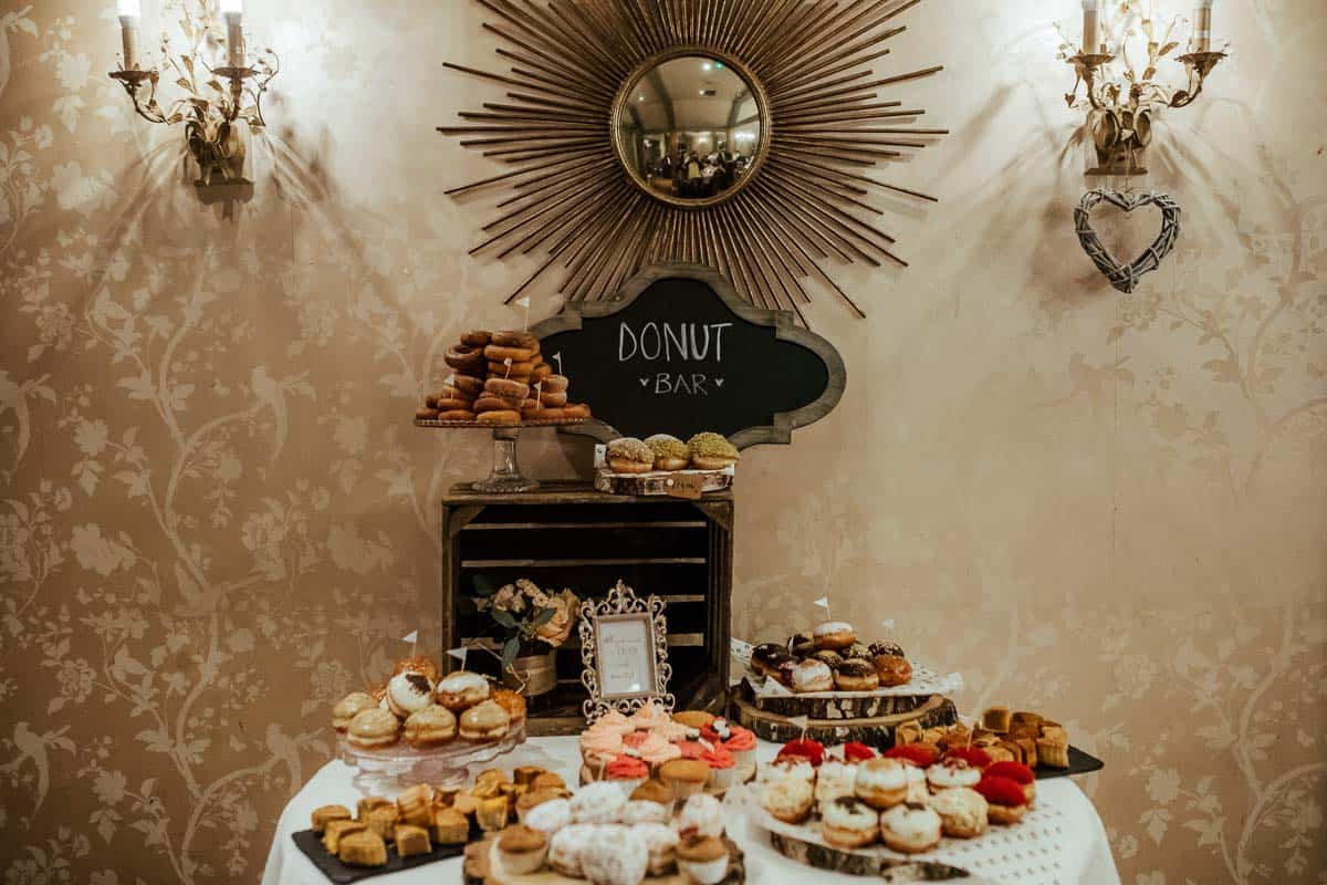 donut bar wrights anglers rest wedding dublin