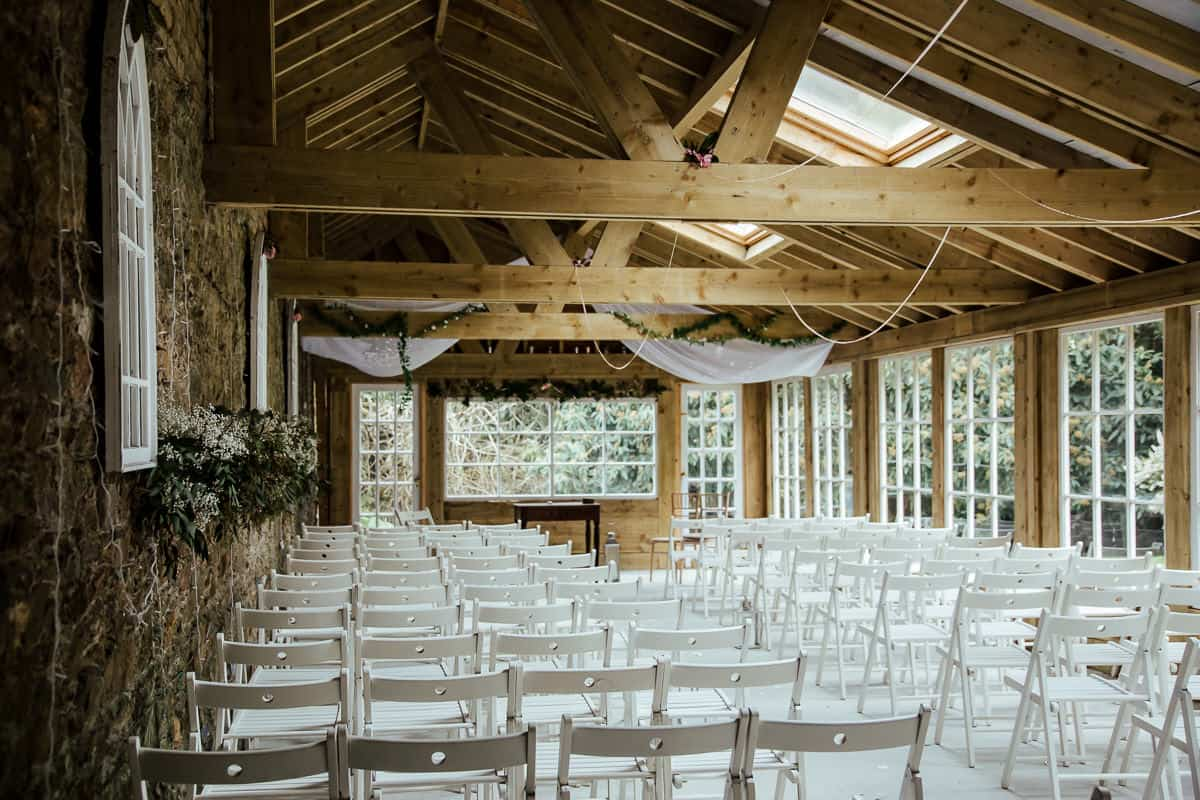 trudder lodge wedding venue ceremony garden room