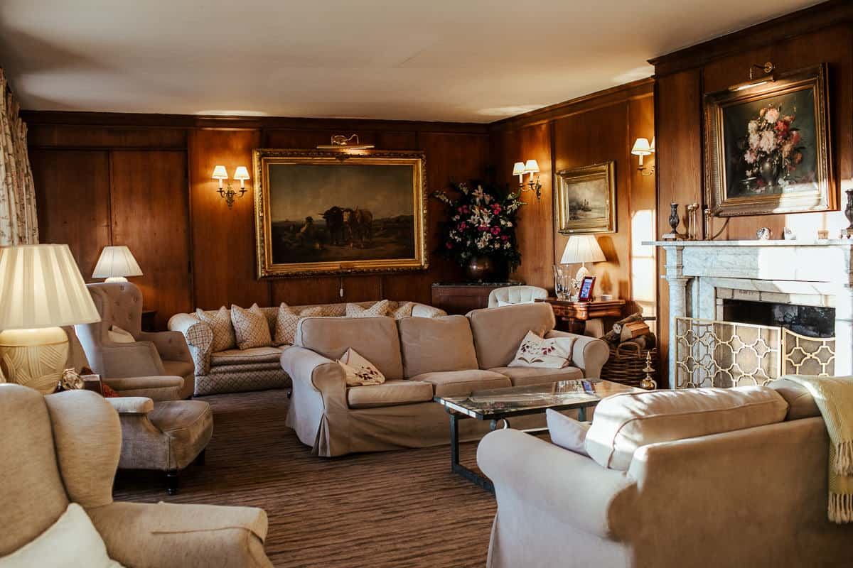 living room for wedding reception in rathsallagh house