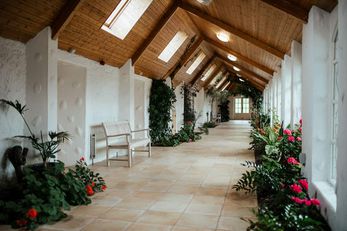 the orangery at rathsallagh house wedding ceremony