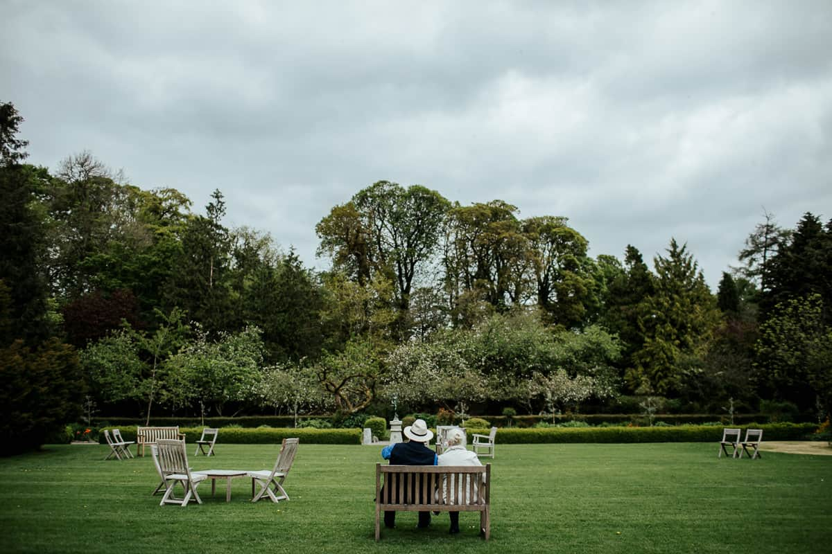 the walled garden at rathsallagh house wedding ceremony
