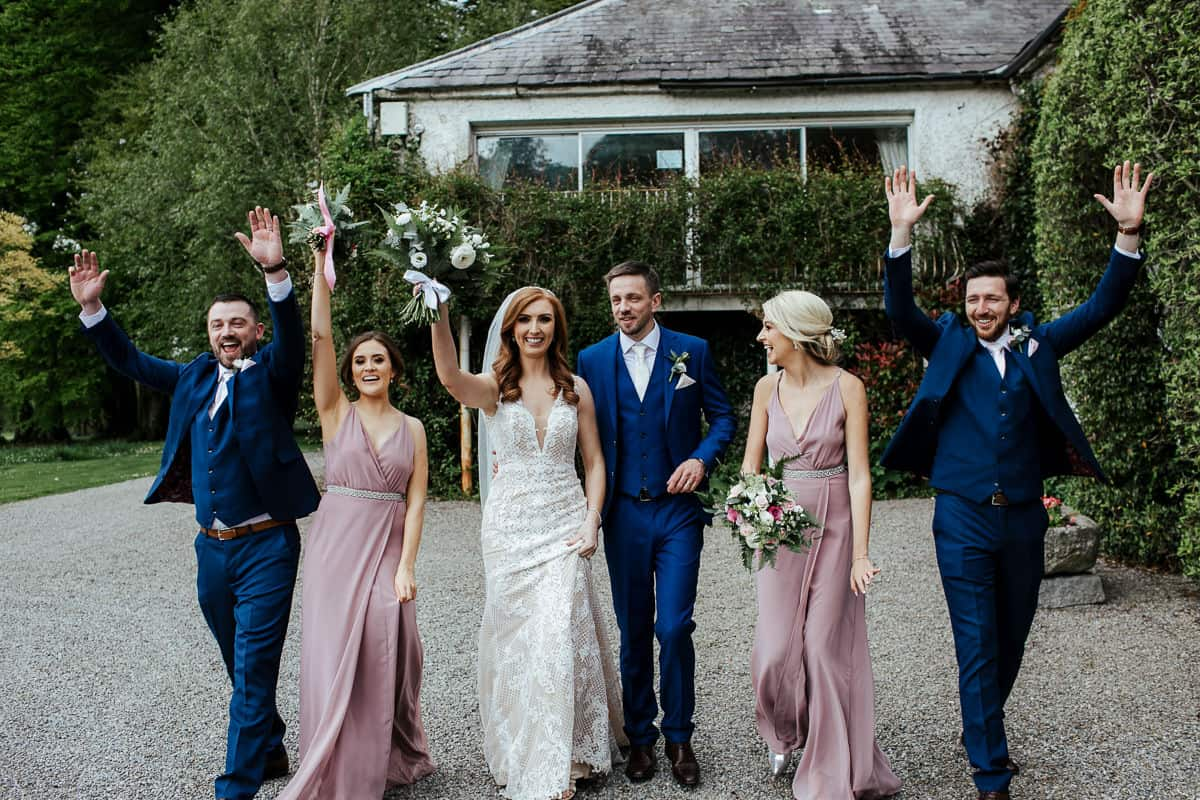 bridal party photo at rathsallagh house