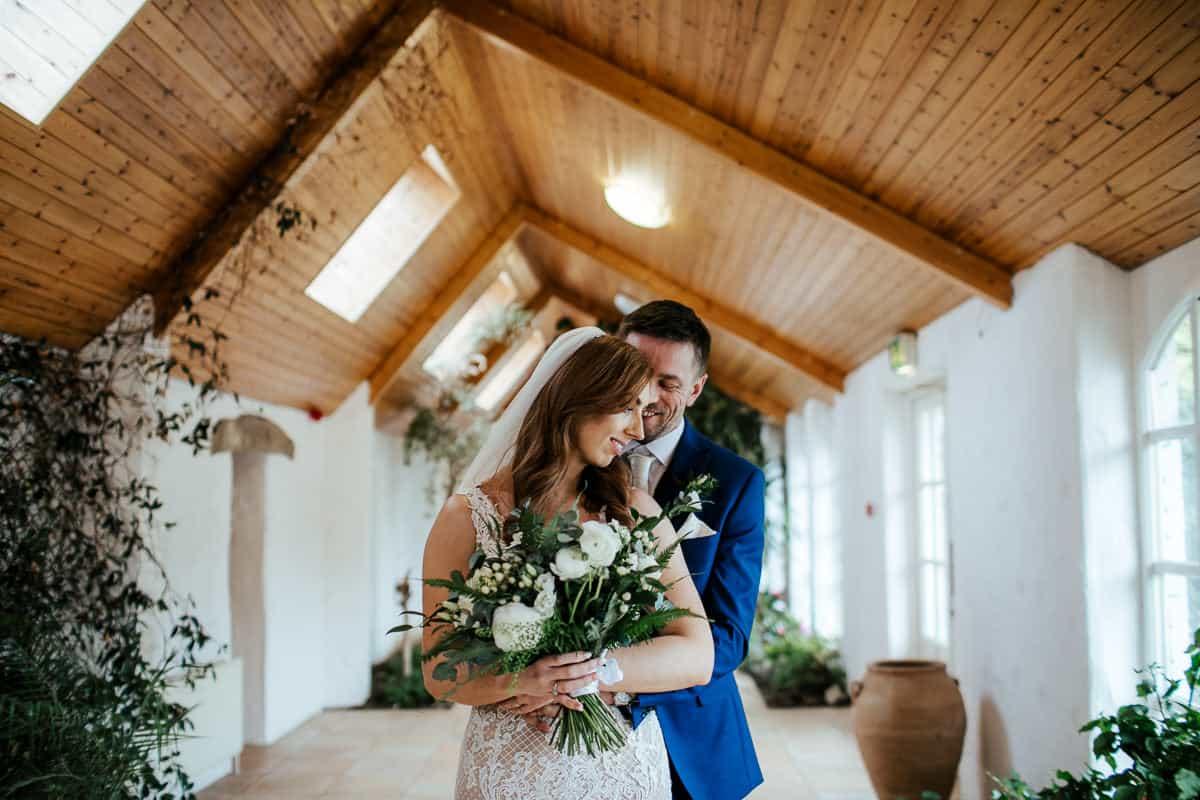rathsallagh house wedding photo in orangery