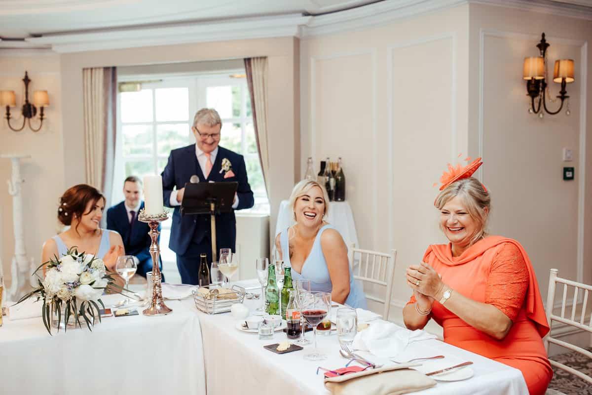 wedding speeches in bellingham castle