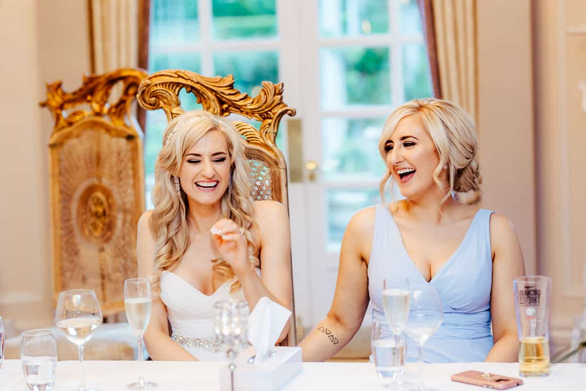 wedding speeches in bellingham castle documentary wedding photographer
