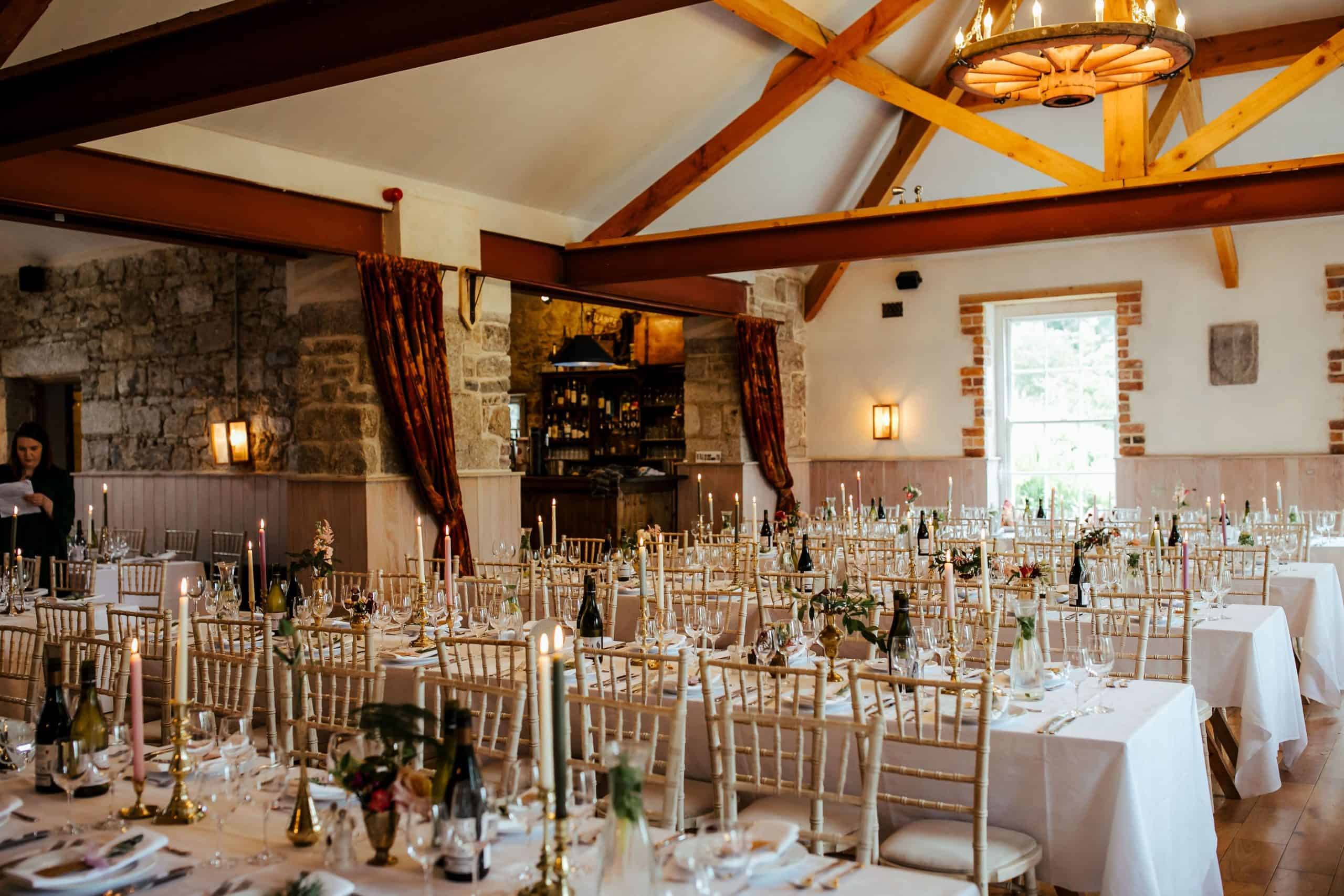 the garden room set for lisnavagh house wedding reception