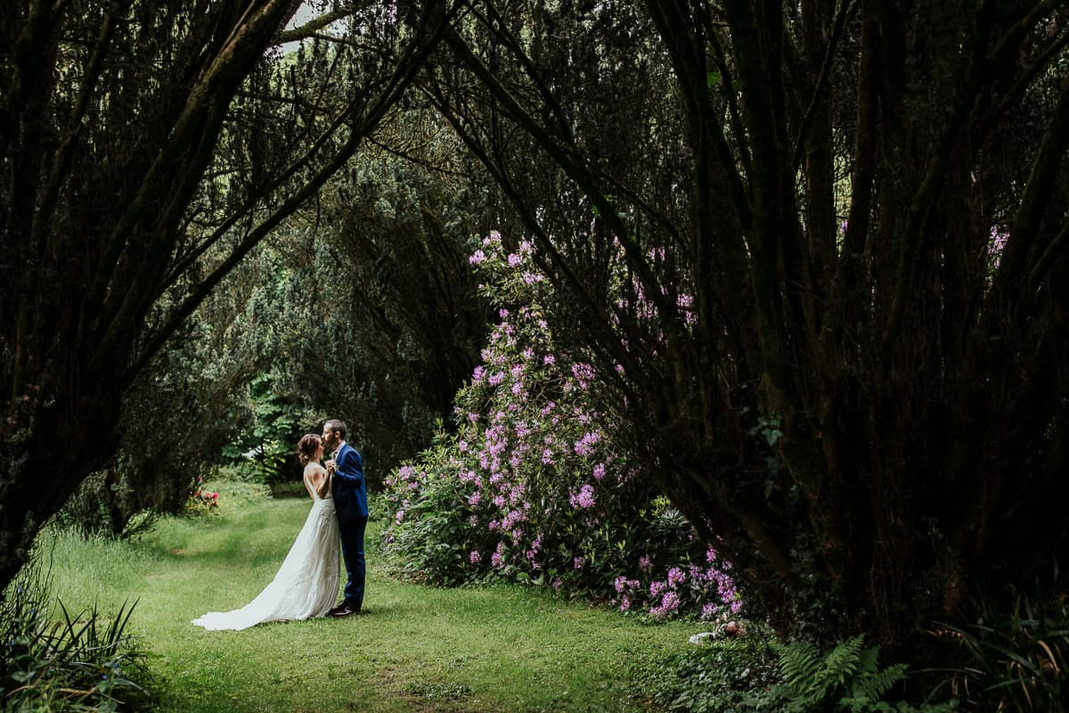 the yew tree walk at lisnavagh house wedding photos