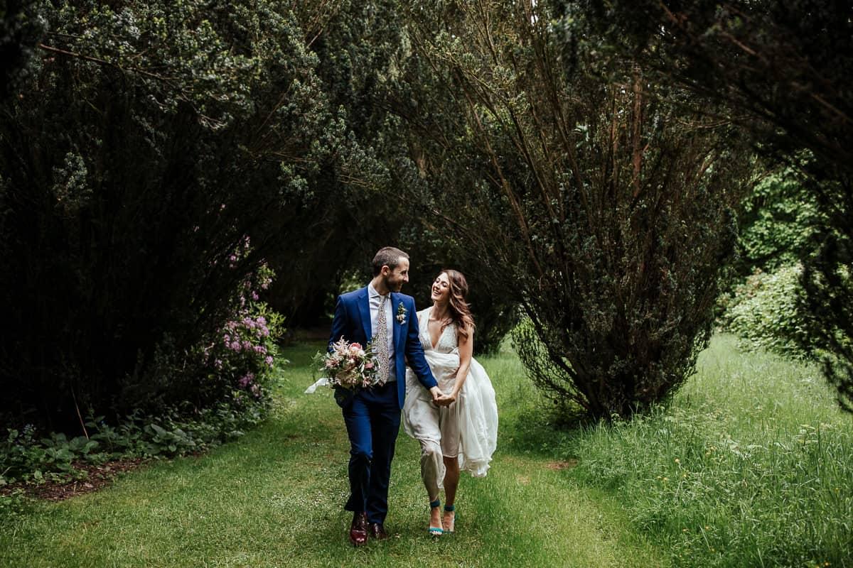 lisnavagh house wedding photos in yew walk