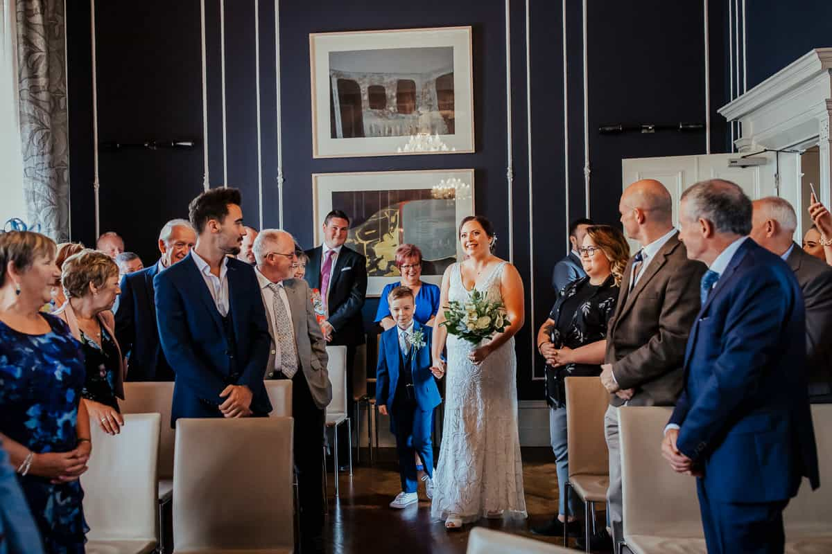 civil wedding ceremony at 25 fitzwilliam place