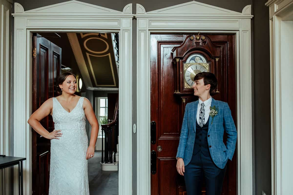 wedding couple at 25 fitzwilliam place