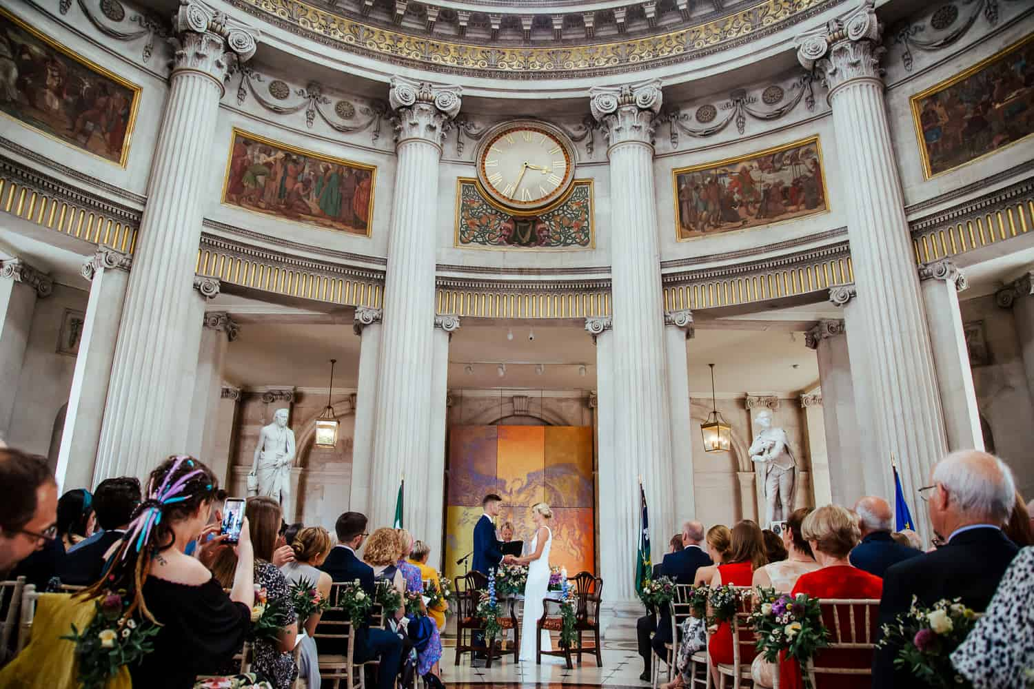 dublin city hall wedding ceremony dublin wedding photographer
