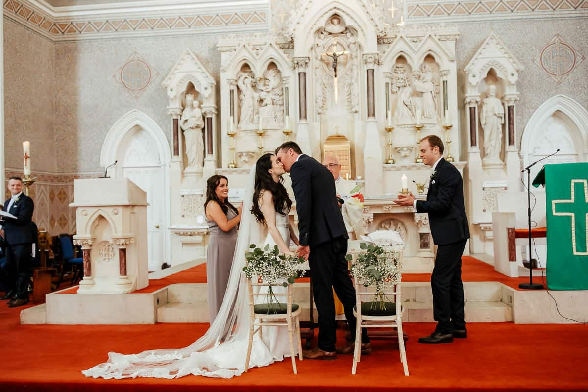 wedding ceremony at st patrick's church wicklow