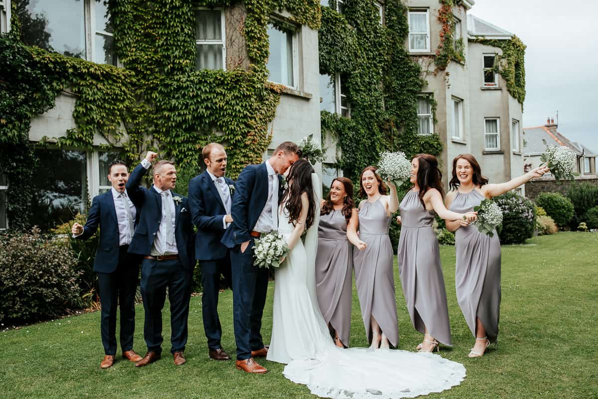 bridal party photo at tinakilly house wedding
