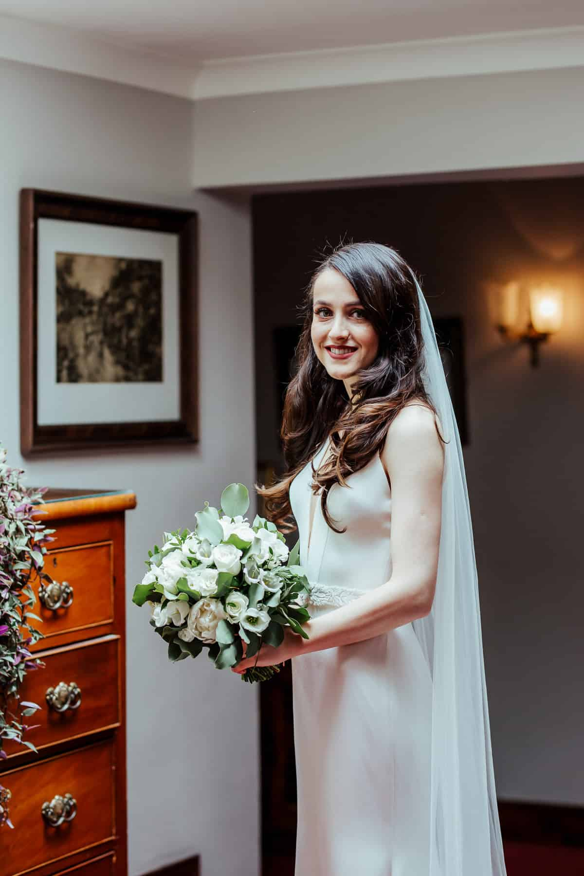 bridal portrait at tinakilly house