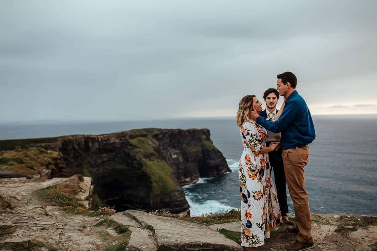 vow renewal ceremony at cliffs of moher co clare