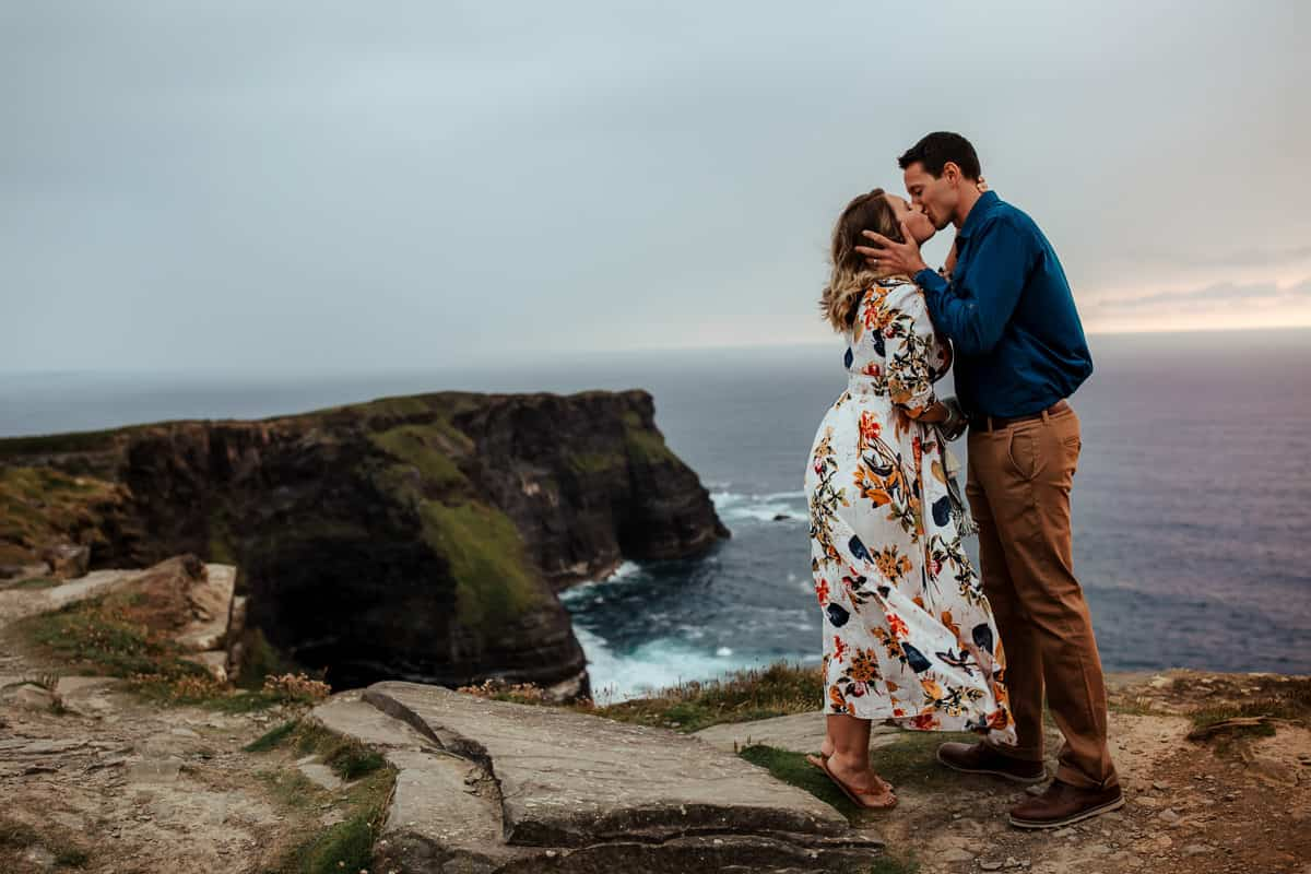 10th wedding anniversary vow renewal at cliffs of moher