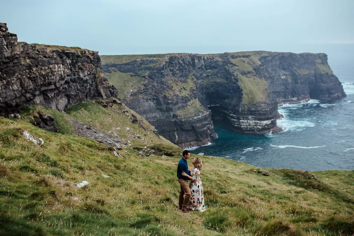 hags head cliffs of moher couple photo