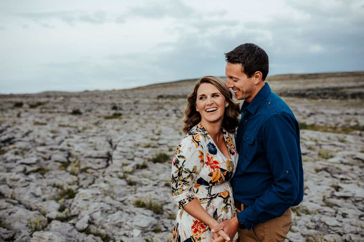 couple photo in the burren co clare