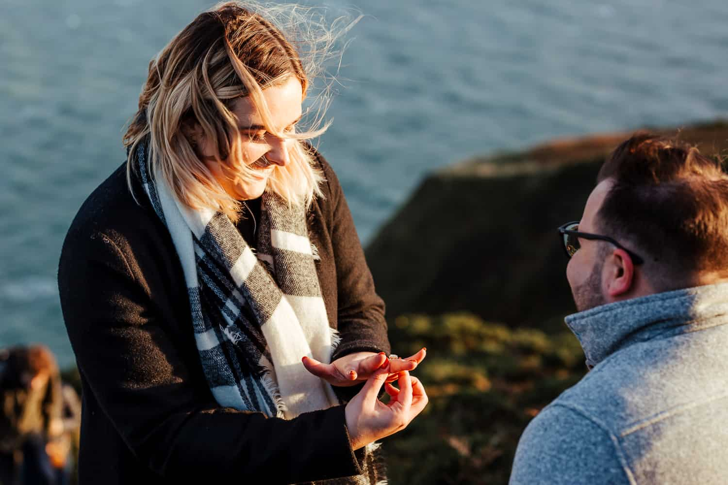 engaged couple photoshoot in howth