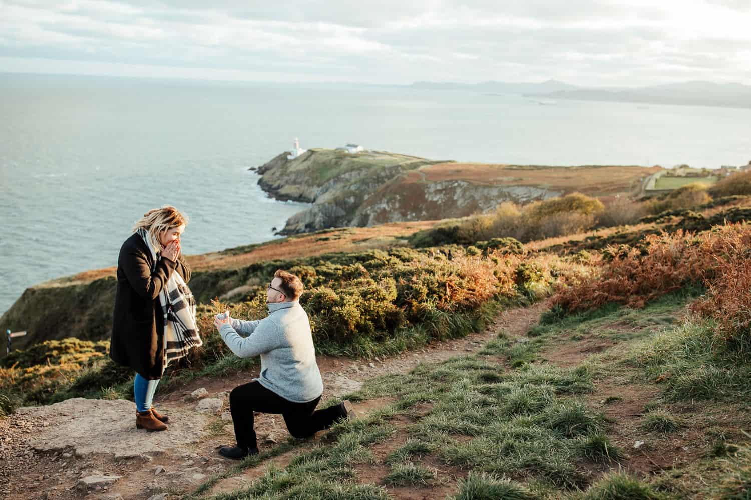 surprise proposal at howth summit dublin