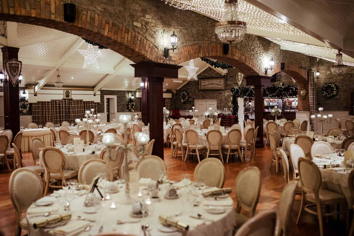 darver castle christmas wedding reception hall