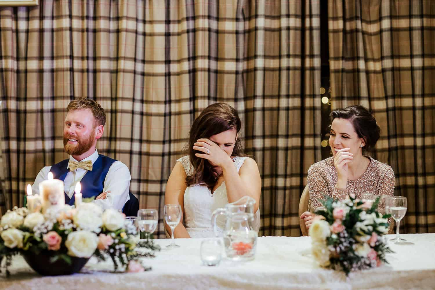 wedding speeches at darver castle winter wedding