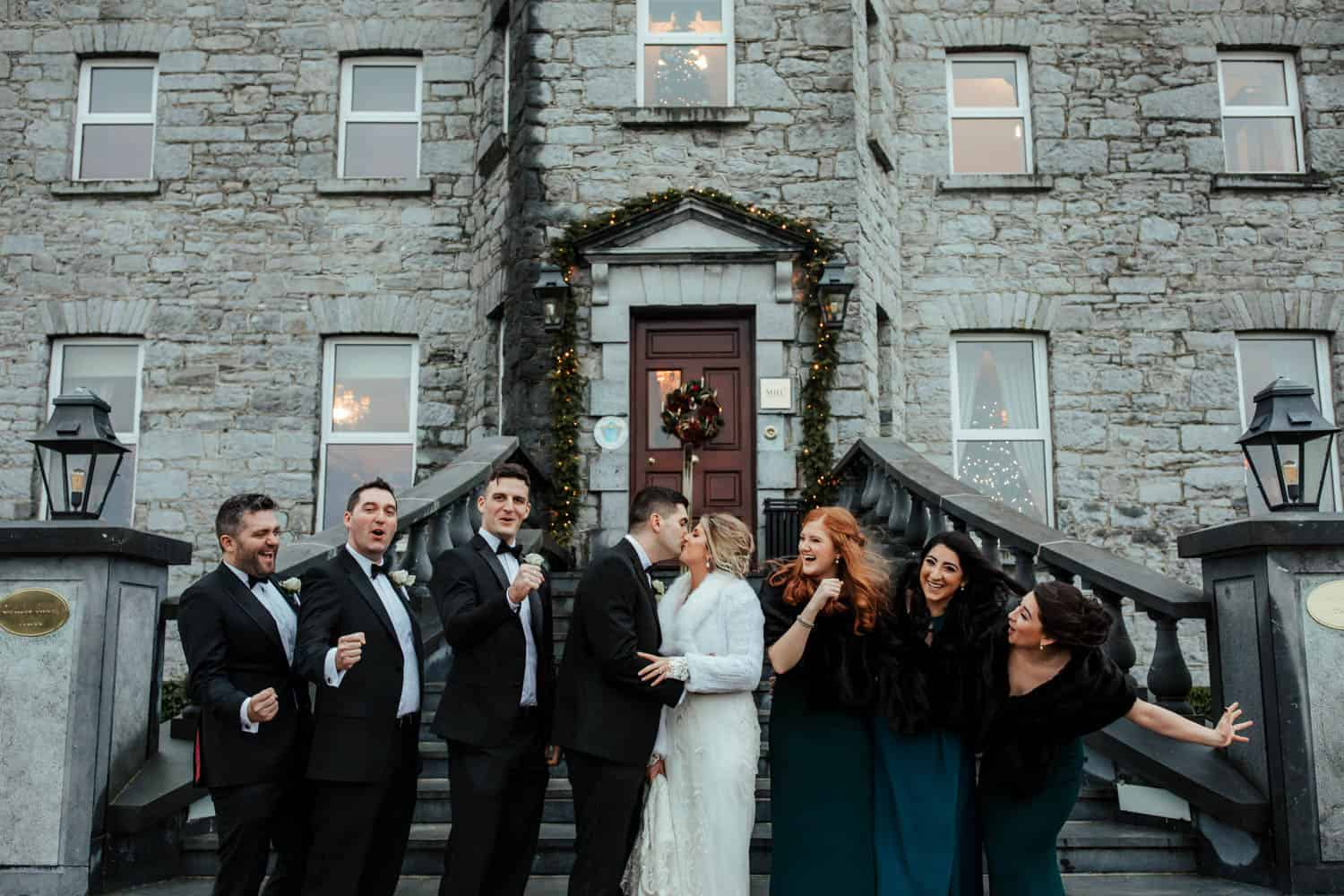 bridal party photos at glenlo abbey hotel