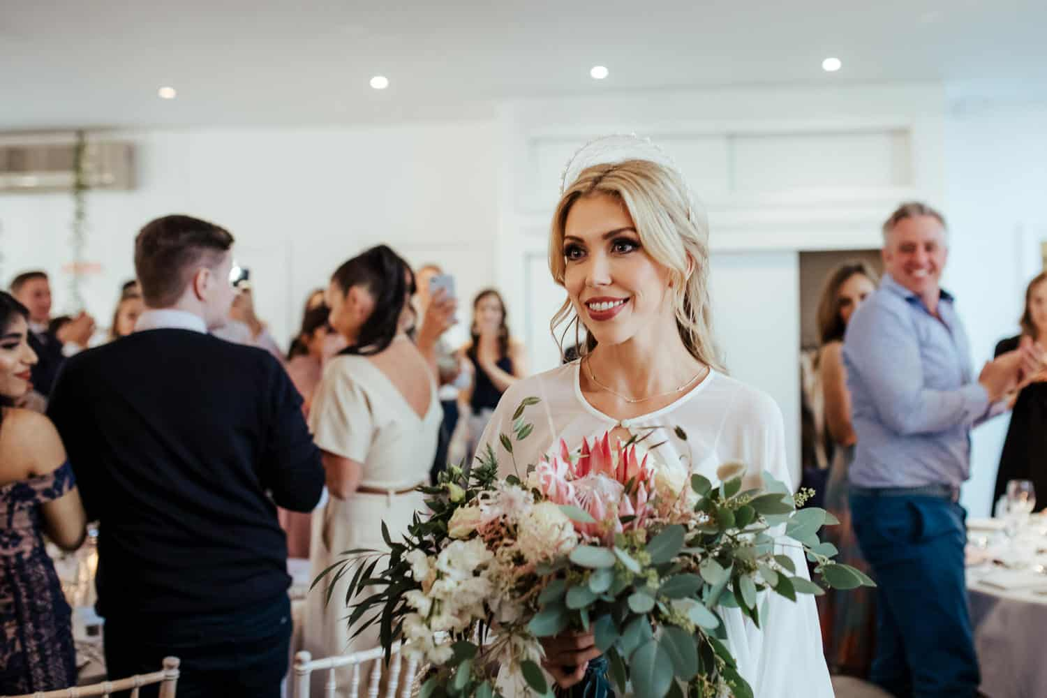protea statement bridal bouquet cost of wedding flowers