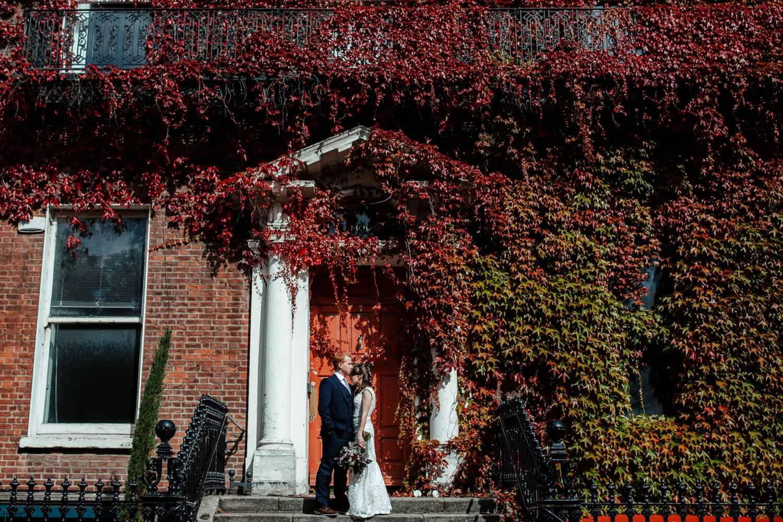 dublin city wedding in autumn