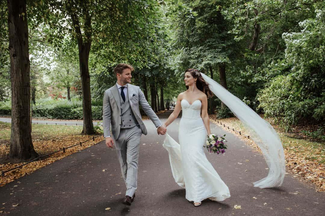 autumn dublin city wedding st stephen's green the shelbourne hotel