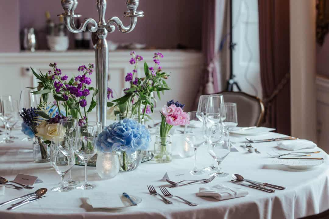 shelbourne hotel wedding table setting