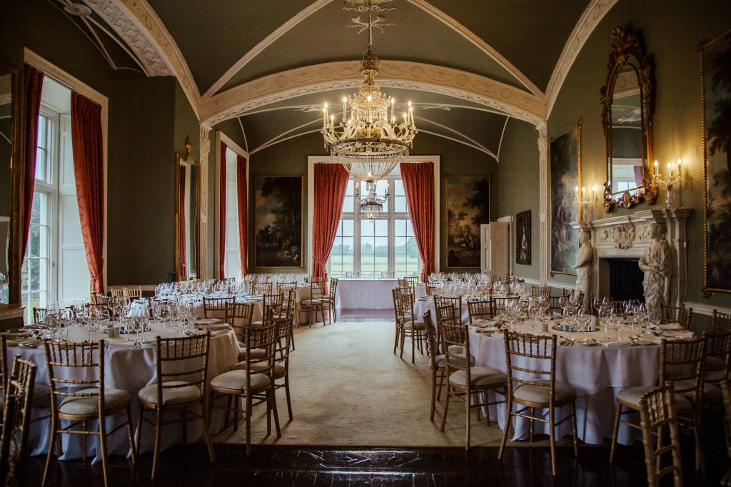 wedding reception room at luttrellstown castle